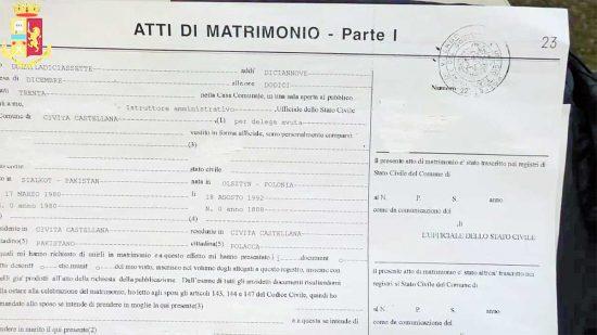 Civita Castellana - Digos - Matrimoni di convenienza per la carta di soggiorno