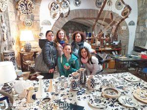 Viterbo - Una delle botteghe artigiane della città della ceramica