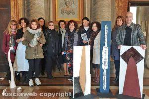 Viterbo - L'inaugurazione della mostra a palazzo dei Priori