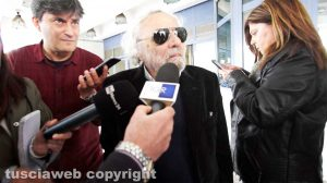 L'avvocato Franco Taurchini all'uscita dal tribunale di Viterbo
