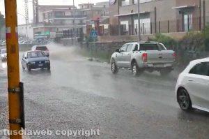Viterbo - Strada allagata in via Cassia nord