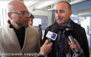 Stupro al pub - Gli avvocati Marco Valerio Mazzatosta e Giovanni Labate (a destra)