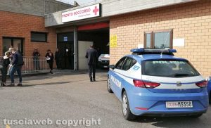 Viterbo - Ospedale di Belcolle - La polizia al pronto soccorso