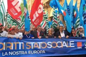 Bologna - Manifestazione dei sindacati