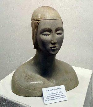 Una scultura di Franco Gradassai