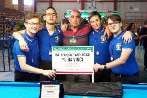 Sport - Biliardo - La squadra del Da Vinci