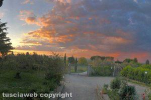 Viterbo - Le sfumature di colori nel cielo