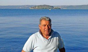 Il presidente pescatore Giuliano Rocchi