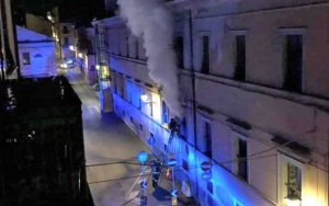 Civita castellana - L'incendio all'interno dell'ex Andosilla