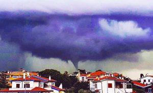 Tornado e tromba d'aria a Montalto di Castro