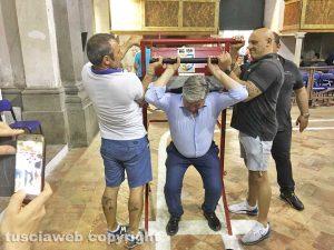 Facchini di santa Rosa - Umberto Fusco alla prova di portata