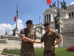 Il colonnello Stefano Fani e il colonnello Pasquale Guarino