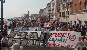 Venezia - La manifestazione contro le grandi navi