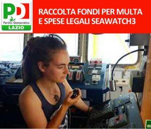 Sea Watch - Il Pd del Lazio lancia la raccolta fondi per Carola Rackete