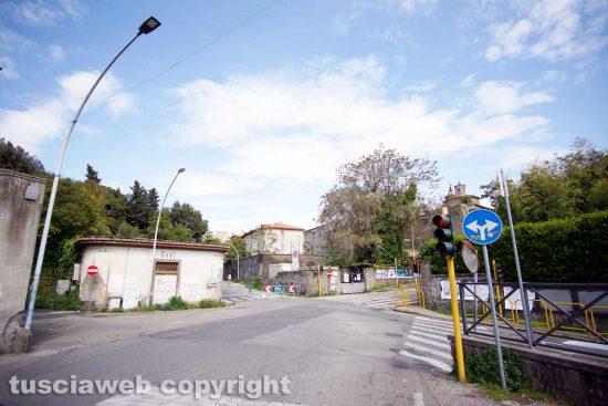 Viterbo - L'incrocio tra via Pilastro e viale Buozzi