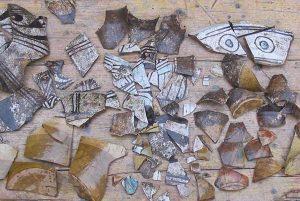 Viterbo - Le scoperte archeologiche, frammenti di Celleno