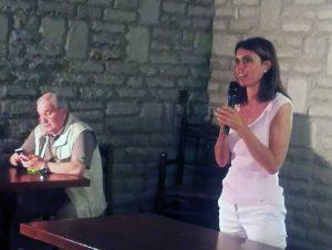 Simona Bonafé e Giuseppe Fioroni a Bomarzo