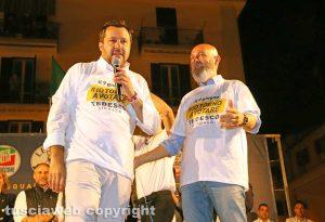 Matteo Salvini ed Ernesto Tedesco