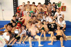 Viterbo - Under 20 di pallavolo - Posillipo festeggia la vittoria