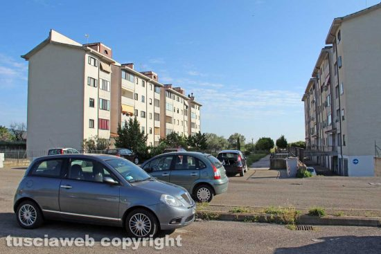 Viterbo - Le case popolari in via Petroselli