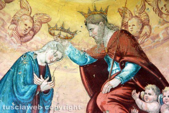 Viterbo - Gli affreschi della chiesa di Santa Maria delle Fortezze