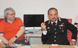 Viterbo - Il tenente colonnello Guglielmo Trombetta alla Tusciaweb Academy