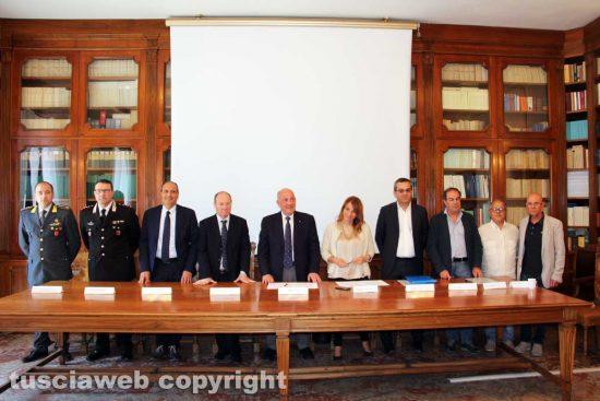 Viterbo - La firma del protocollo di legalità