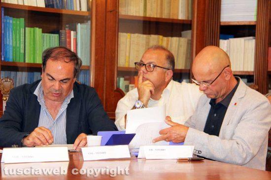 Viterbo - Fortunato Mannino, Francesco Palese e Carlo Proietti