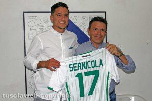 Sport - Calcio - Flaminia - Francesco Bravini con Leonardo Sernicola