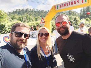 Montefiascone - il selfie della vicesindaca Celeste e dell'assessore Manzi alla cronoscalata
