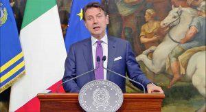Roma - La conferenza stampa del presidente del consiglio Giuseppe Conte
