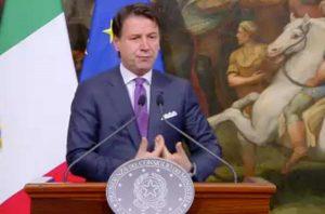 Roma - Conferenza stampa di Giuseppe Conte
