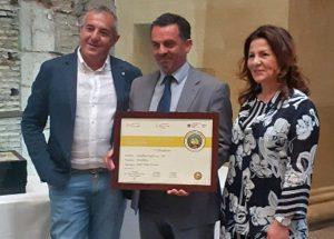 Roma - La premiazione per il caseificio Cioffi