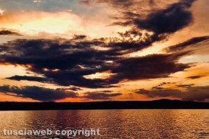 Bolsena - Il tramonto sul lago