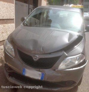 Viterbo - L'incidente in via Oslavia
