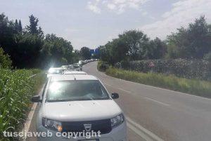 Viterbo - Traffico bloccato sulla Martana