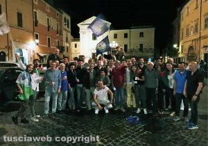 Caprioli sindaco di Civita Castellana, festa in piazza
