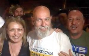 Ernesto Tedeschi sindaco di Civitavecchia, la festa in piazza