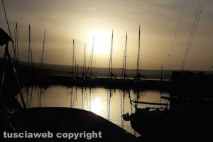 Capodimonte - Il molo di al tramonto