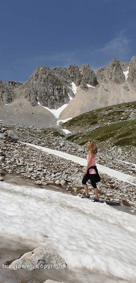 Rieti - Neve di giugno sul monte Terminillo