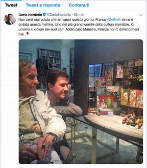 Il tweet di Dario Nardella
