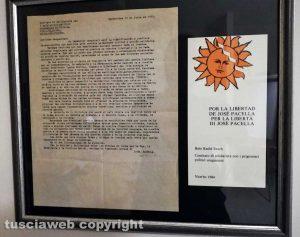 Viterbo - La lettera di José Pacella e la cartolina dei comitati