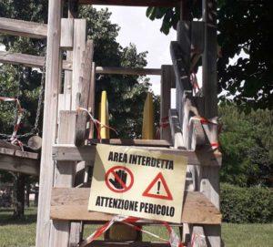 Viterbo - Il parco di via Carlo Cattaneo