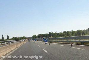 Viterbo - I lavori sulla superstrada
