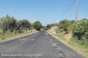 Vetralla - Buche in via Foro Cassio