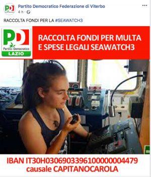 Sea Watch - Il Pd del Lazio lancia la raccolta fondi