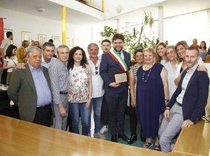 Bassano in Teverina - Il sindaco Romoli alla festa per la rielezione