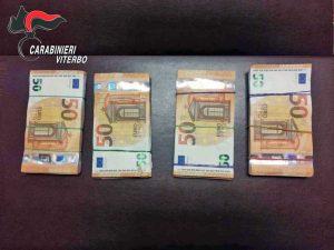 Viterbo - Narcotraffico - Gli oltre 22mila euro sequestrati dai carabinieri
