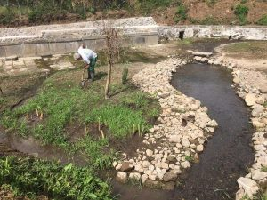 Fossato callo, lavori di sistemazione a cura dell'orto botanico Angelo Rambelli