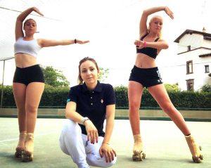Sport - Pattinaggio - Libertas Pilastro - Nicole D'Orazio e Giada Malavasi con l'istruttrice Alessia Marchetti